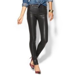 Citizens of Humanity Rocket Black Wax Coated Jeans